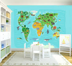 kids world map wall decal mural world map kids wall decals murals posters  mural world map