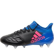 adidas mens x 16 1 leather sg football boots core black shock pink blue