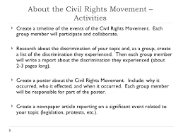 integrated civil rights unit 12 about the civil rights movement