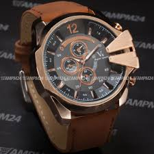 aliexpress com buy v6 big dial rose gold case leather strap aliexpress com buy v6 big dial rose gold case leather strap wristwatch causal clock male quartz watches men sport military wrist watch waa767 from