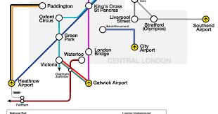 map of london airport transportation