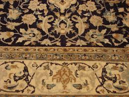 fine persian wool silk nain rug ivory navy