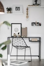 minimal office. Minimal Home Office Space With Wire Chair N