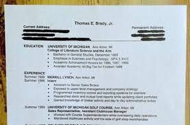 After Seeing His Resume: 6 Things About Pre-Fame Tom Brady You Probably  Didn't Know