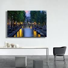 led canvas wall art led canvas print of c with bridge at night picture canvas wall led canvas wall art