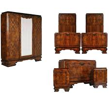 Art Deco Bedroom Furniture Art Bedroom Set In Walnut And Burl Walnut By For Art  Deco