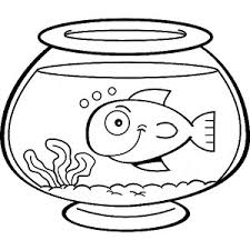 Small Picture Goldfish in Fish Bowl Coloring Page Goldfish in Fish Bowl