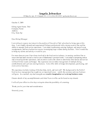 Sample Cover Letter For Chef Guamreview Com