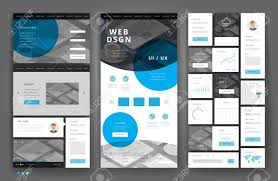 Office Stationery Design Templates Website Template Design With Interface Elements Office Stationery