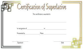 Superlative Certificate Editable Award Certificate Template Free Inspirational Fun Run