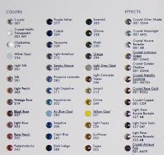 Swarovski Ab Color Chart Swarovski Crystal Rhinestone Coloar Board Blog