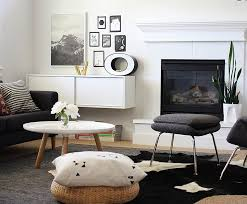 view in gallery contrasting textures bring a hint of playfulness to the black and white room