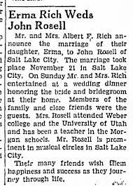 John Rosell Weds Erma Rich - Newspapers.com