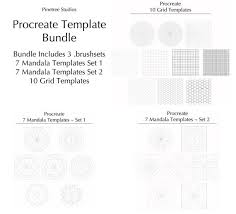 From quick conceptual sketches to fully finished artwork enable the customizable perspective grid for additional help when drawing. Procreate Mandala Y Grid Template Bundle Brushset Disenado Etsy