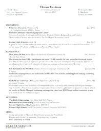 Undergraduate Resume Template Undergraduate Student Resume Examples