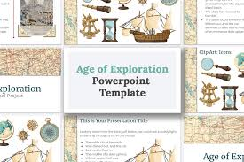 Age Of Exploration Powerpoint Template Theme