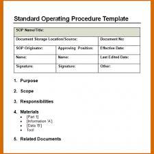 standard operating procedures template word standard operating procedures template template business