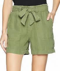 Details About Sanctuary Womens Shorts Cadet Green Size Medium M Belted Linen Solid 69 612