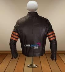x men origin wolverine hugh jackman brown leather jacket
