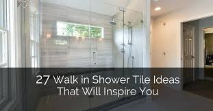 glass bathroom tiles walk in shower tile ideas that will inspire you home remodeling contractors design