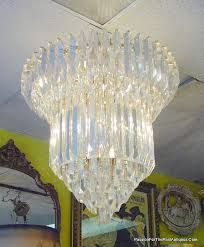 this stunning italian crystal chandelier is 40 heavy lead cut crystal and dates approximately 1960 1970