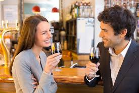 Image result for couple intense looks at bar
