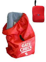 Red Checking Jl Childress Car Seat Gate Check Travel Bag Red