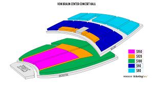 Huntsville Von Braun Center Concert Hall Zaalindeling