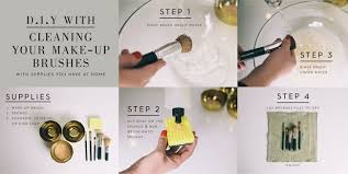 makeup brushes steps clean and rinse well