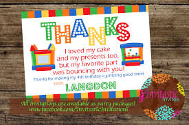 bounce house party thank you card jump house bounce party 128270zoom