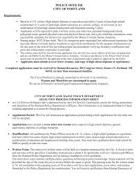 Police Officer Resume Objective Entry Level Police Officer Resume Objectives Cv Uk No Experience 19