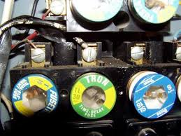 outdated and unsafe electrical panels that could be hiding in closeup of fuses in a fuse box image source