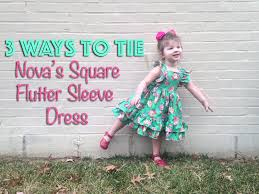 Ckc Patterns Enchanting Nova's Square Flutter Sleeve Dress Pattern By CKC Patterns YouTube