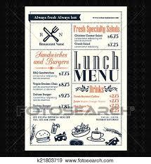 Restaurant Menus Layout Retro Frame Restaurant Lunch Menu Design Layout Clip Art