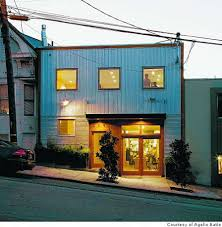 exterior of artist agelio batle s remodeled home on potrero hill using corrugated galvalume metal siding