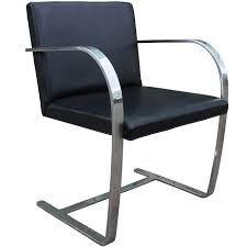 modern knoll brno leather and chrome cantilevered side leather and chrome dining chairs uk