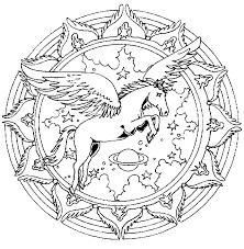 Kleurplaten En Zo Kleurplaat Van Mandala Pegasus