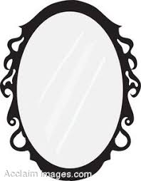 mirror clipart black and white. mirror clipart black and white