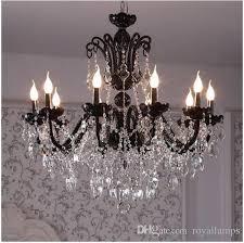 svitz 8 12 arm vintage antique black chandelier home crystal lighting glass lamp living room hanging light res de cristal lamparas led chandeliers green