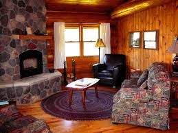 Log Cabin Living Room Decor Interior Log Rustic Cabin Living Room With Stone Stairs Also Log