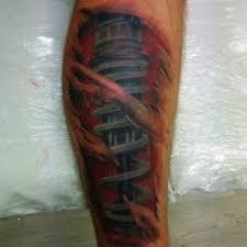 Tetování Biomechanika Noha Tetování Tattoo