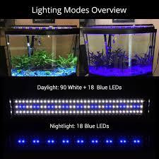 150cm Aquarium Light Us 42 57 35 Off Nicrew 75 150cm Aquarium Led Lighting Fish Tank Light Lamp With Extendable Brackets 90 White And 18 Blue Leds Fits For Aquarium In