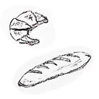 フリー素材アイコンtwitterクロワッサンとフランスパンのガーリー