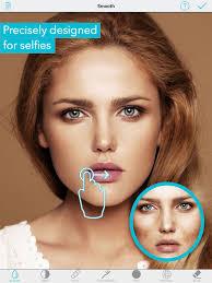 selfie editor face cam filter on the app