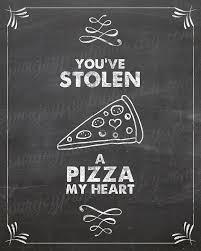 Pizza Love Quotes Unique Kitchen Pun Pizza My Heart Pizza Quote Pizza By PureJoyPrintables