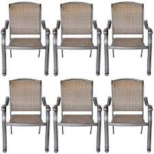 6 outdoor dining chairs santa clara