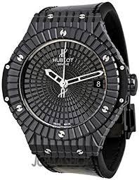 amazon com hublot big bang caviar black ceramic mens watch hublot big bang caviar black ceramic mens watch 346cx1800br