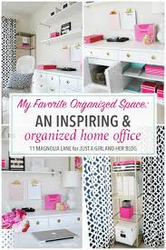 love home office space. Love This Gorgeous And Inspiring Home Office Space! She Uses Some Genius Systems To Keep Space E