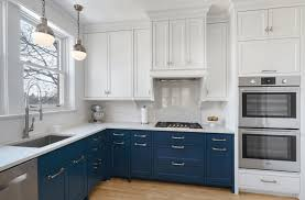 breathtaking blue kitchen cabinets with black appliances pictures