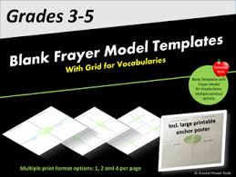 Frayer Model Directions Frayer Model Blank Templates With Grid For Vocabularies